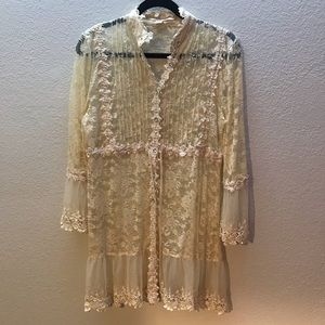 Boston Proper Boho Lace Top